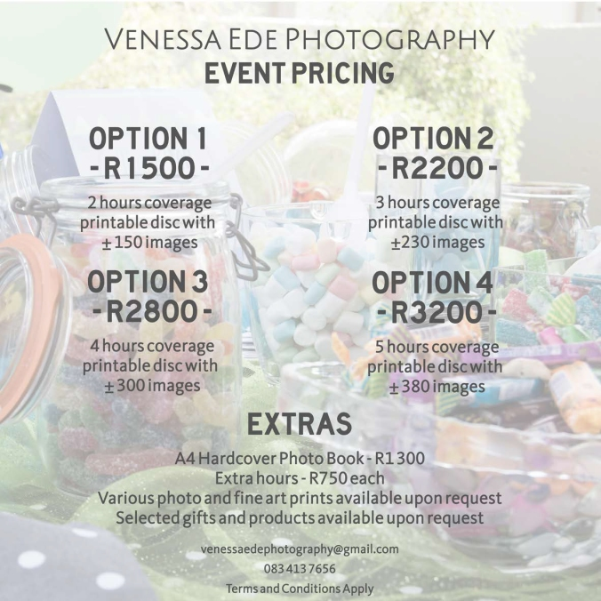 Event Photography Pricing 2017