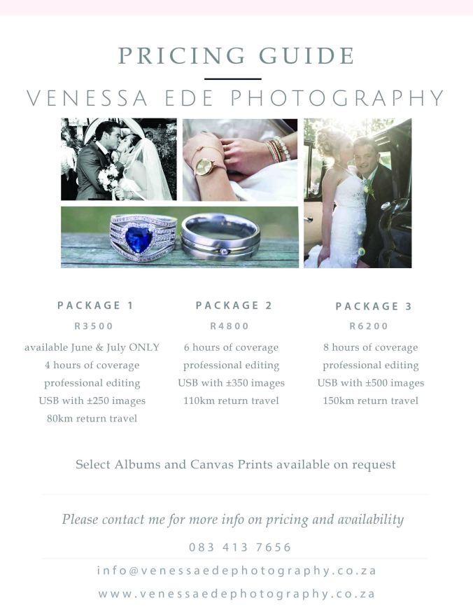 Wedding Pricing Guide 2017 sml